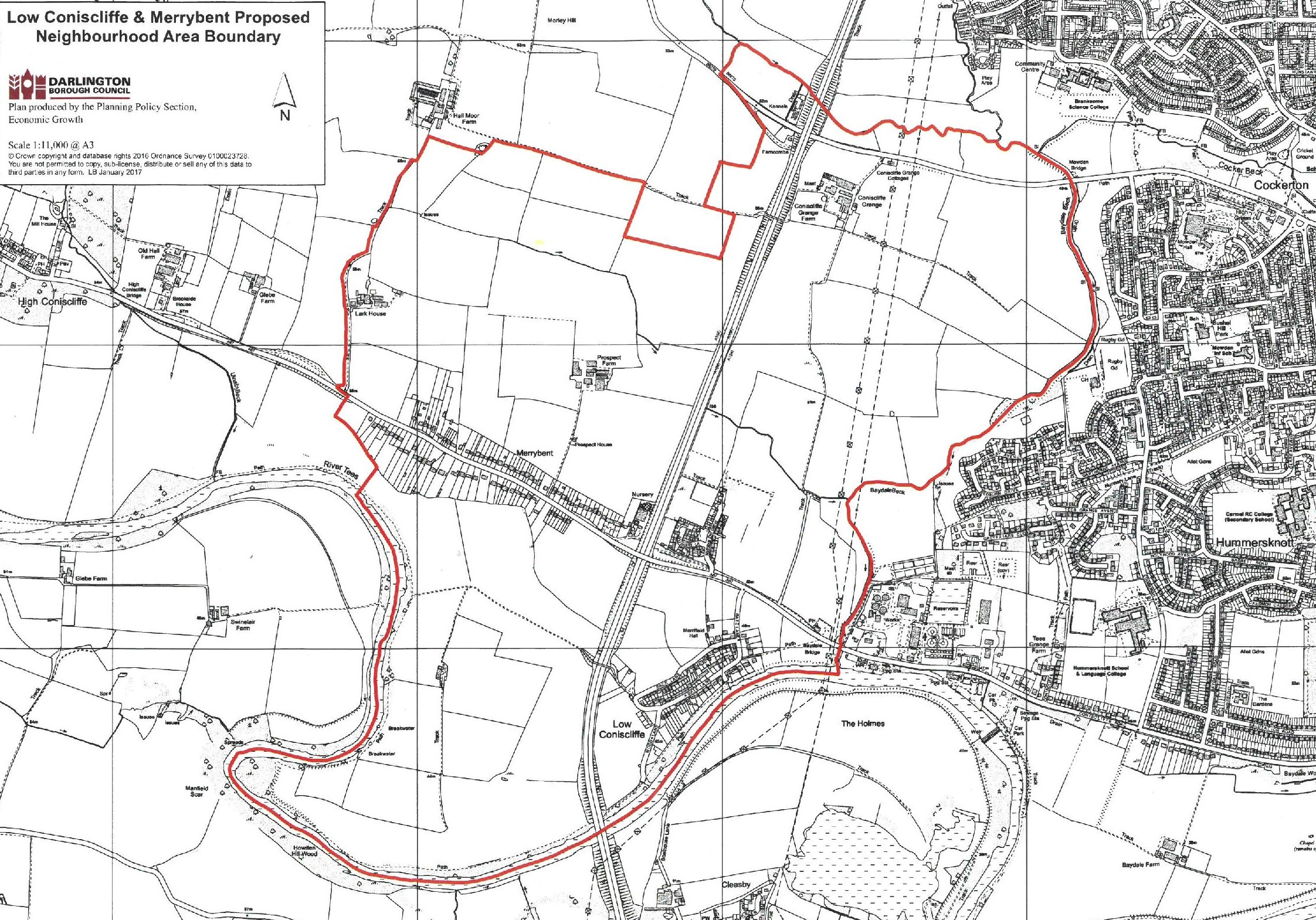 Low Coniscliffe & Merrybent Parish Map-page-001